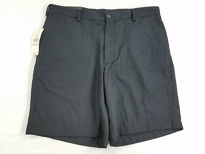 NWT Lyle & Scott Scotland Mens Light Chino Flat Front Shorts black Polyester W28