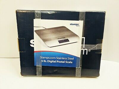 Stamps.com 5 Lb Pound Stainless Steel Digital Postal Scale New Usb Connection