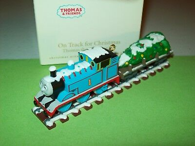 Hallmark On Track for Christmas Thomas with Tree 2008 Train Ornament ()