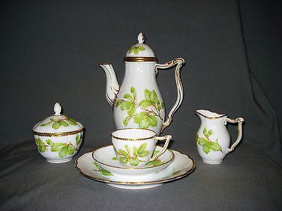 RAR! Altes Royal Copenhagen 6 tlg. Kaffeeservice mit floralem Dekor, um 1895