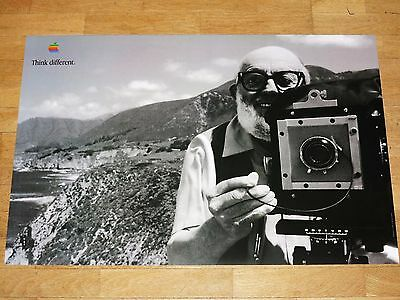 Apple Think Different Poster - Ansel Adams /24 x 36 by Steve Jobs 24x35 13/16in