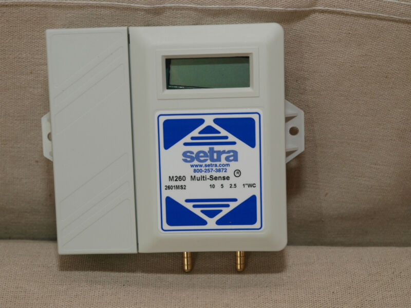 Setra 260GMS2D Multirange Differential Pressure Transmitter with Display – NEW