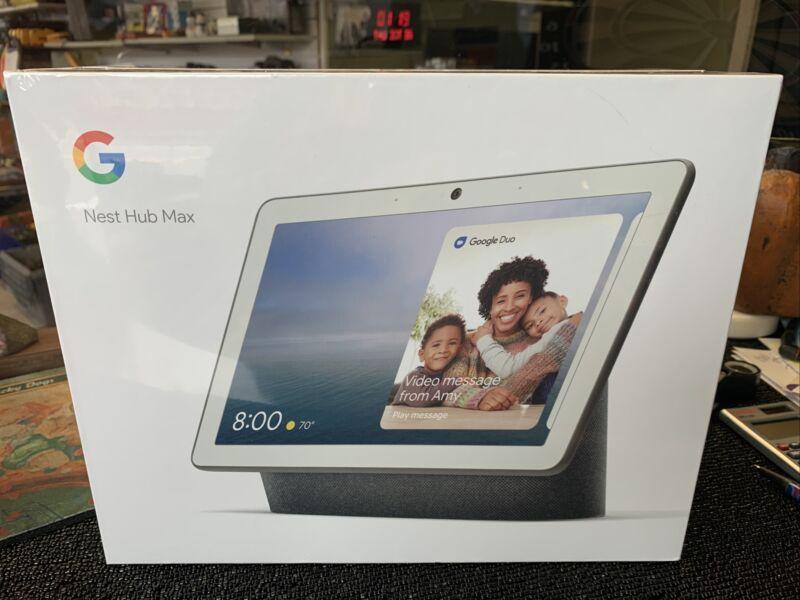 Google Nest Hub Max Charcoal New