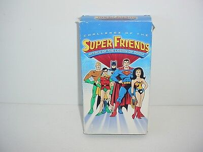 Challenge of the SuperFriends Attack of the Legion of Doom VHS Video Tape Movie