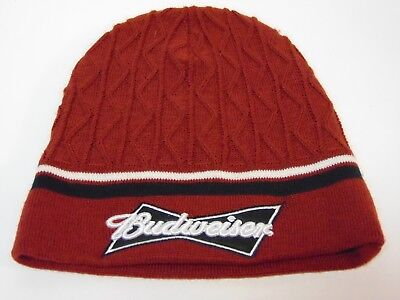 ANHEUSER BUSCH BUDWEISER BEER MAROON WINTER SNOW SKI STOCKING CAP HAT (Anheuser Busch Stock)