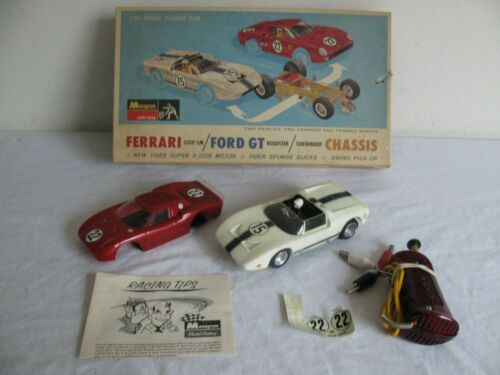 Vintage Monogram Ferrari 330P / Ford GT Roadster / Brass Side winder Chassis VG