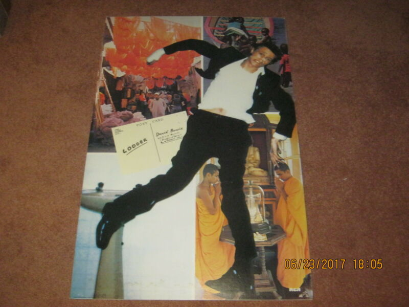 """DAVID BOWIE """"LODGER"""" Poster Great Condition from 1979 dry-mounted ready to frame"""