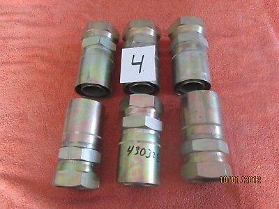 Lot 4 New Weatherhead Crimp Hydraulic Hose Fittings 43032e-632