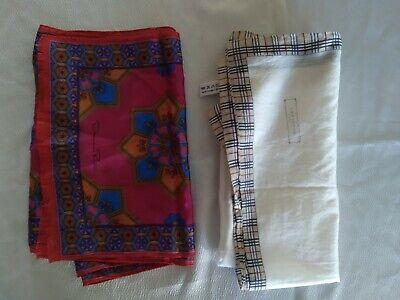 Vintage Scarf Styles -1920s to 1960s Vintage Lot 2 Scarves Burberry & Oscar De La Renta Italy Japan Cotton Silk $20.50 AT vintagedancer.com