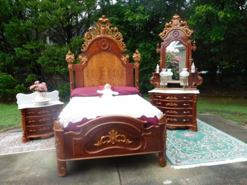 EXEMPLARY VICTORIAN RENAISSANCE   MITCHELL & RAMMELSBERG QUEEN SIZE BEDROOM SET