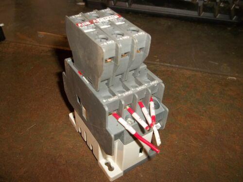 ABB N40E 4 POLE RELAY WITH (3) ABB CA5 CONTACTOR BLOCKS (WL102)