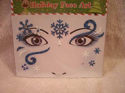 Christmas Sequin Face Art Temporary Tattoos