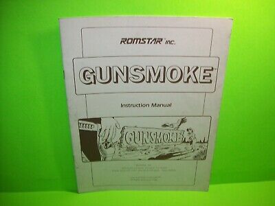 GUNSMOKE Romstar Video Arcade Game Service Manual 1985 ORIGINAL Instructions
