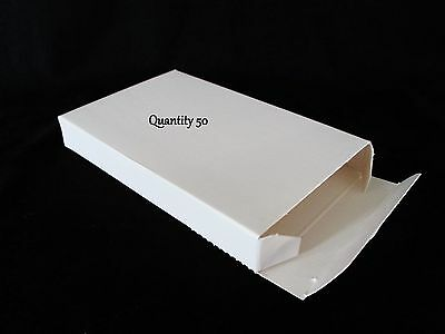 50 Small White Boxes Gift Box Lot 5.63 X 3.5 X .75 5 58 X 3 12 X 34