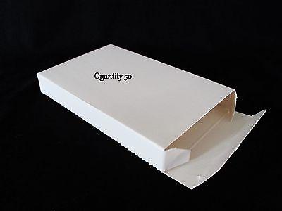 50 Small White Boxes Gift Box Lot 5.63 X 3.5 X .75 5 58 X 3 12 X 34