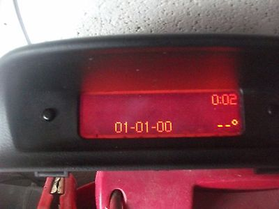 PEUGEOT 307 / 307SW  RADIO / CLOCK / TEMP DISPLAY SCREEN