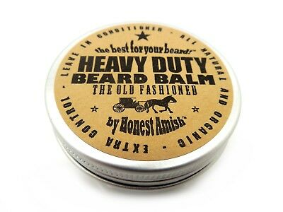 Honest Amish - Heavy Duty Beard Balm - 2 ounce tin - Beard Conditioner](Amish Man)