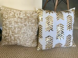 White & Gold Decorative Cushions