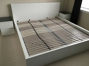 Ikea Malm Bed Whit King size
