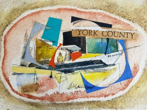 Richard Lahey Mixed Media Painting Collage York County Perkins Cove Ogunquit MCM