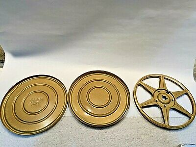 Vintage Compco Bradlees Camera Dept. Gold tone 8mm Metal Can & Reel Set 400' MA, used for sale  Shipping to India