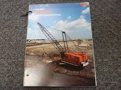 Link-belt Ls-318 Excavator Crane Specifications Lifting Capacities Manual