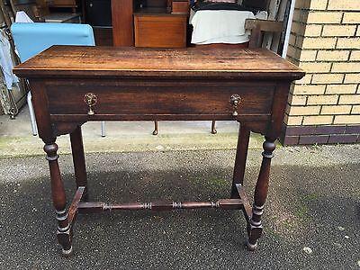 Edwardian Solid Oak Side Table