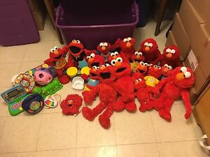 Over 25 Elmo's paid between 25$-100$ a piece