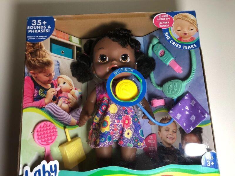 Baby Alive Sweet Tears Baby NIB African American Talks Cries Hasbro