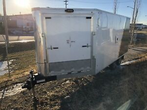 2016 enclosed ROYAL V nose sled bike trailer like NEW!!