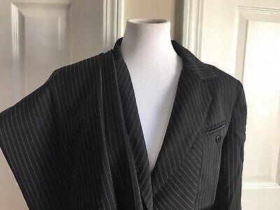 BLACKER Women 2 PC Black White Striped Pant Suit Size 10