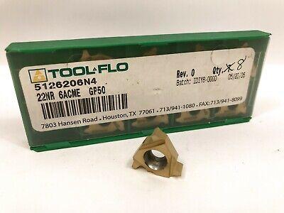 Tool-flo 22nr 6acme New Carbide Inserts Grade Gp50 9pcs