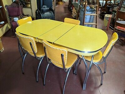 Post 1950 Vintage Formica Table Chairs Vatican
