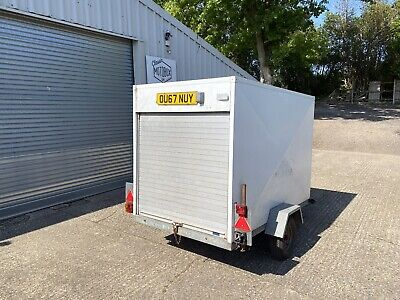 CONWAY BOX TRAILER USED 6X4X4 UNBRAKED 750 Max KG Weight GALV CHASSIS Tow-a Van