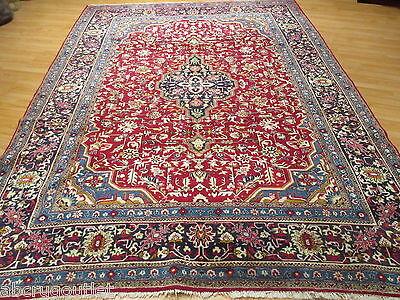 9x12 Ca. 1950 PERSIAN Museum Tabriz Geometric Handmade-knotted Wool Rug 580217