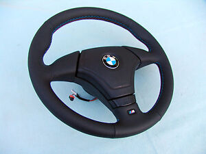 BMW AIRBAG EURO SPORTS STEERING WHEEL WITH THUMB RESTS, E36 M3, NEW LEATHER