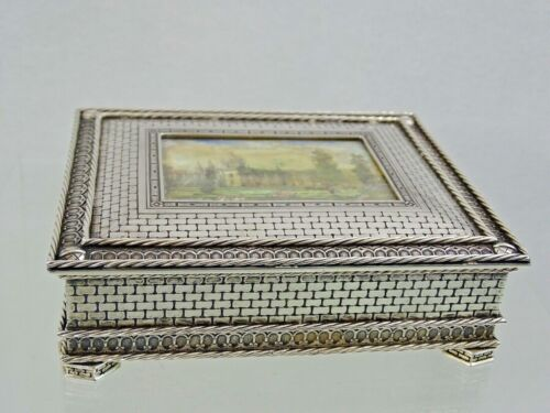 ANTIQUE SILVER JEWELRY BOX PORTUGAL sterling TROMPE L