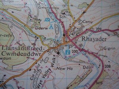 Ordnance Survey Map 1;50,000 147 Builth Wells 1982 Llandrindod Wells Devil's Bri