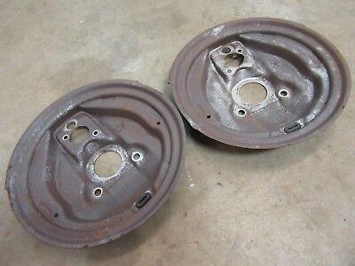 1970 Pontiac Catalina front stock drum brake spindle brake shoe backing plate