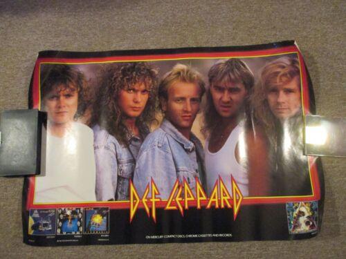 "Def Leppard - Hysteria Promo Poster, 36"" x 24"", Fine++, Polygram Records 1987"