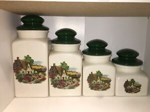 Kitchen Flour Canisters Set is 4