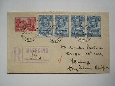 1942 BECHUANALAND REGISTERED MAFEKING COVER