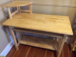 Collapsible hardwood desk