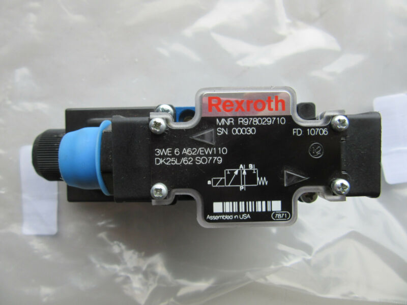 Rexroth R978029710 Hydraulic Directional Control Valve NEW!!! Free shipping