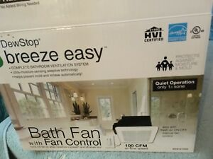 Bathroom fan / moisture control in one