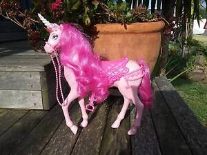 Pink glitter Barbie Horse/Unicorn Shellharbour Shellharbour Area Preview
