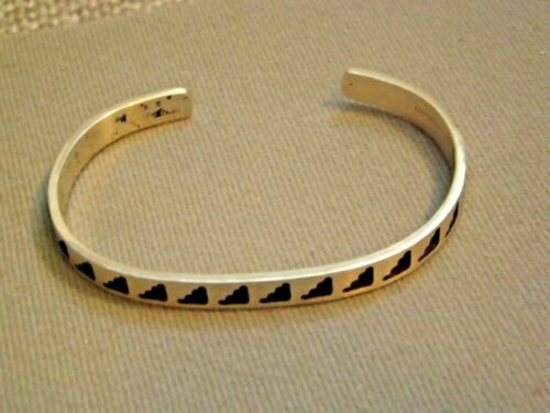 Vintage Native American Sterling Silver Cuff Bracelet signed