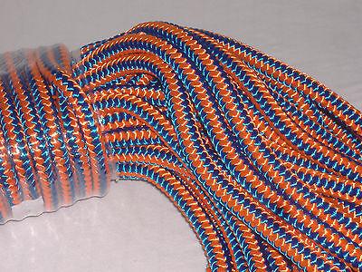 Arborist 12 strand polyester climbing rope 1/2x100 feet blue orange hi vis tree