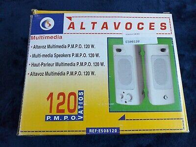 Altavoces multimedia Cs con potencia de 120 Watios PRECIO: 10€ ENVÍO: GRATIS