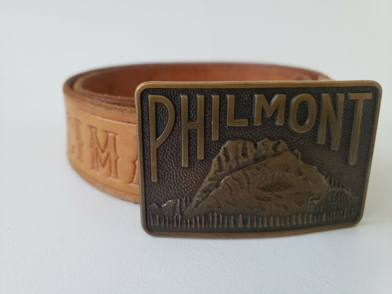 Philmont Scout Ranch Leather Belt and Buckle, Waist 30